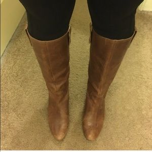 Steve Madden riding boots with wedge